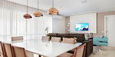 Sala de Jantar e Tv: Salas de jantar modernas por Madi Arquitetura e Design