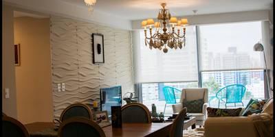 Salones de estilo ecléctico de Diseñadora Lucia Casanova
