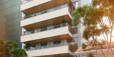 EDIFÍCIO CARAVELLE | Fachada: Casas modernas por Tato Bittencourt Arquitetos Associados