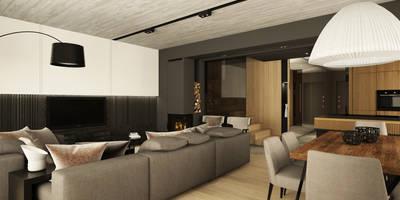 minimalistic Living room by Bartek Włodarczyk Architekt