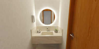 Casas de banho modernas por Camila Feriato
