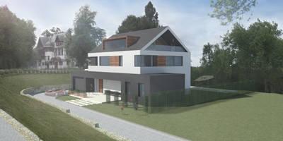 Ansicht von der Straße:   von Achtergarde + Welzel Architektur + Interior Design