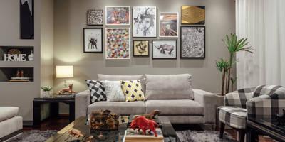 Salas de estilo ecléctico por Ambientta Arquitetura