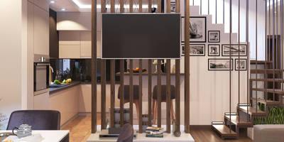Salas de estilo ecléctico por GP-ARCH