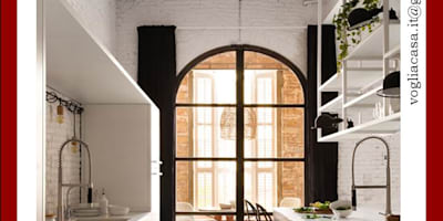 COPERTINA VOGLIACASA.IT: Cucina in stile in stile Industriale di VOGLIACASA.IT