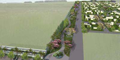 Proyecto de Forestacion Barrio Cerrado y centro comercial: Jardines de estilo clásico por BAIRES GREEN