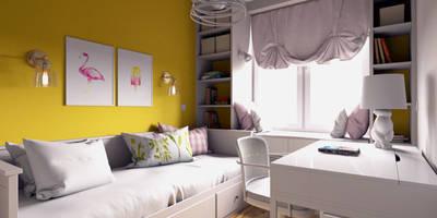 Уютная квартира в г. Москве, 41 кв.м.: Детские комнаты в . Автор – Мастерская дизайна ЭГО