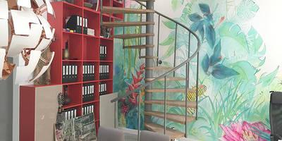 Biuro Podróży: styl , w kategorii Korytarz, przedpokój i schody zaprojektowany przez Pracownia Projektowa Hanna Kłyk