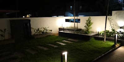 Front landscape area: modern Garden by Hasta architects