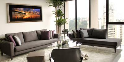 Projekty,  Salon zaprojektowane przez Concepto Taller de Arquitectura