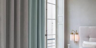 FR-One Stoffe Ashur FR 2406-17, Gawain FR 2407-16 und Grail FR 2447-45:  Hotels von Indes Fuggerhaus Textil GmbH