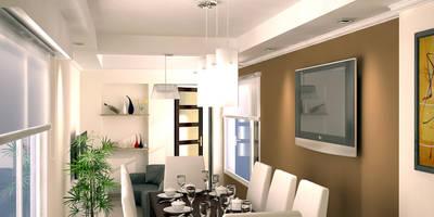 Vista del Estar-Comedor: Comedores de estilo moderno por G-R Arquitectura