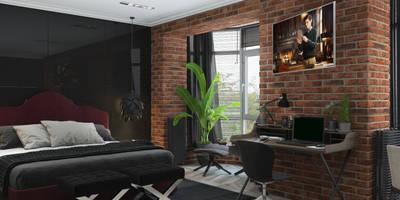 Апартаменты на Комсомольском проспекте: Спальни в . Автор – 3D GROUP