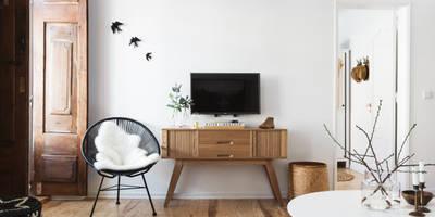 Salones de estilo escandinavo de Arkstudio