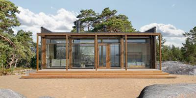 Дома в . Автор - Woody-Holzhaus - Kontio