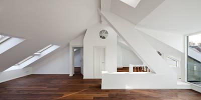 kitchen & living area: modern Living room by brandt+simon architekten