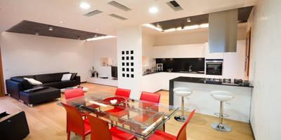 Salas / recibidores de estilo moderno por SANSON ARCHITETTI