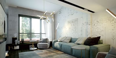Salones de estilo industrial de Studio 25