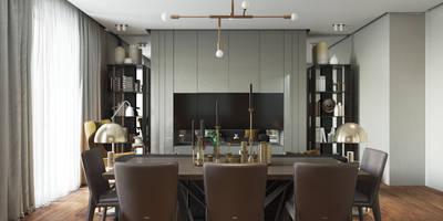 Salones de estilo escandinavo de Studio 25