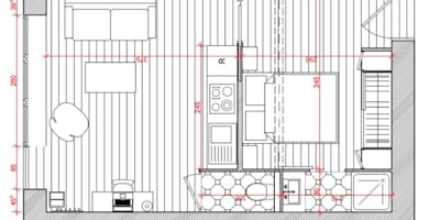 Plan de la première proposition: Murs & Sols de style de style Moderne par Dem Design