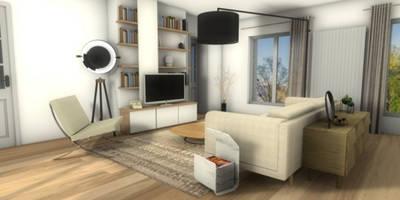 Vue du salon: Salon de style de style Moderne par Dem Design