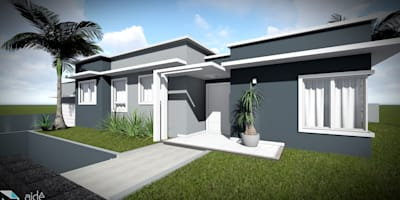 Casas de estilo minimalista por Aidê Arquitetura