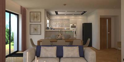Dom pod Chorzowem: styl , w kategorii Salon zaprojektowany przez Projektowanie wnętrz Oliwia Drobnicka
