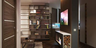 minimalistische Woonkamer door Polovets & Tymoshenko design studio