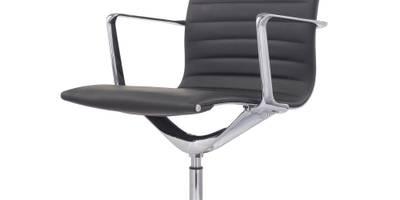 Gabler Premium Besucher-/ Konferenzstuhl 1030B Echt Leder schwarz:   von Gabler24.com