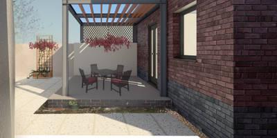 Steel Pergola: modern Garden by architecture:unknown