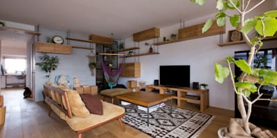 nionohama-apartment-house-renovation: ALTS DESIGN OFFICEが手掛けたリビングです。