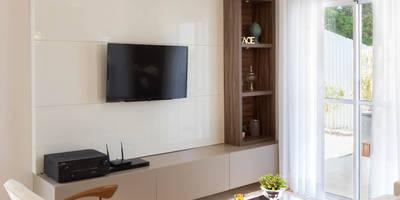 Salas de estar modernas por Lodo Barana Arquitetura e Interiores