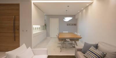 minimalistic Dining room by MEIUS ARQUITETURA