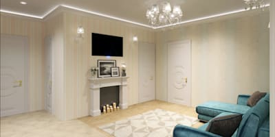 classic Living room by Студия дизайна интерьера Маши Марченко