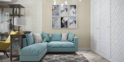 modern Living room by Студия дизайна интерьера Маши Марченко