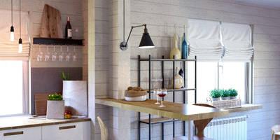 Salas de jantar escandinavas por Elena Arsentyeva