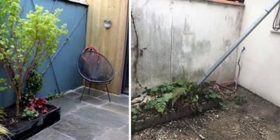 D'une cour terne à un jardin coloré:  de style  par Constans Paysage