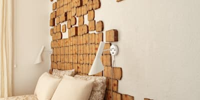 Flagstones: Dormitorios de estilo rústico de Sucursal urbana universo Sostenible