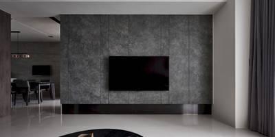 迷迭.灰 Planes of Greyscale:  客廳 by 理絲室內設計有限公司 Ris Interior Design Co., Ltd.