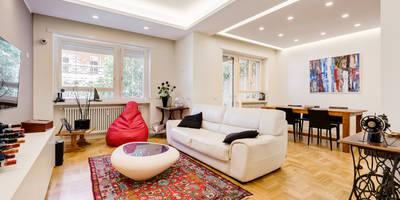 Farnesina | minimal design: Soggiorno in stile in stile Minimalista di EF_Archidesign