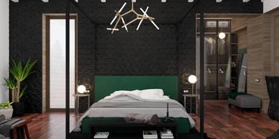 Коттедж в Михновке: Спальни в . Автор – 3D GROUP