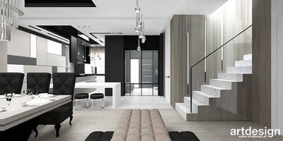 projekt wnętrz domu: styl , w kategorii Korytarz, przedpokój i schody zaprojektowany przez ARTDESIGN architektura wnętrz
