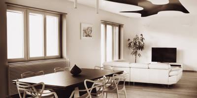 CASA MICA: Soggiorno in stile in stile Moderno di CORFONE + PARTNERS studios for urban architecture