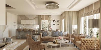 COGNAC: styl , w kategorii Salon zaprojektowany przez Ludwinowska Studio Architektury