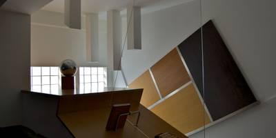 Casa SCR: Soggiorno in stile in stile Moderno di Laboratorio di Progettazione Claudio Criscione Design