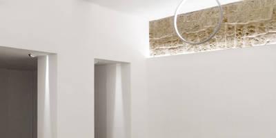 CASA TTF : Soggiorno in stile in stile Moderno di CORFONE + PARTNERS studios for urban architecture