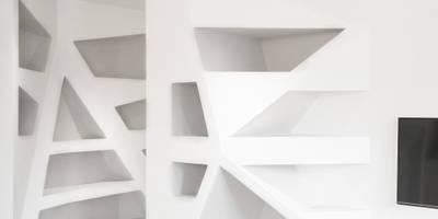 CASA CDL: Soggiorno in stile in stile Moderno di CORFONE + PARTNERS studios for urban architecture
