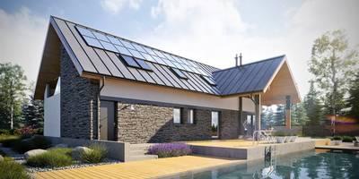 Nikolas II G2 ENERGO PLUS - nowoczesny dom, który ma wszystko!: styl nowoczesne, w kategorii Domy zaprojektowany przez Pracownia Projektowa ARCHIPELAG