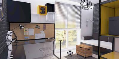 Funkcjonalnie z fantazją: styl , w kategorii Pokój dla chłopca zaprojektowany przez ZIN Studio