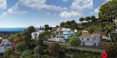 Vista villetta dall'alto: Case in stile in stile Moderno di Baldantoni Group